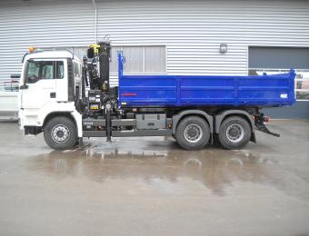 Benne transporteur CIF sur MAN 6x4 26 T
